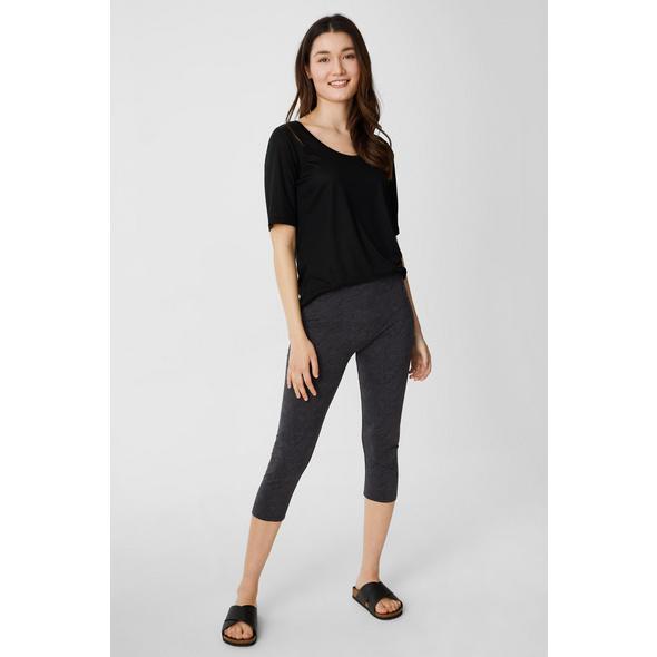 Multipack 2er - Basic-Capri-Leggings - Bio-Baumwolle