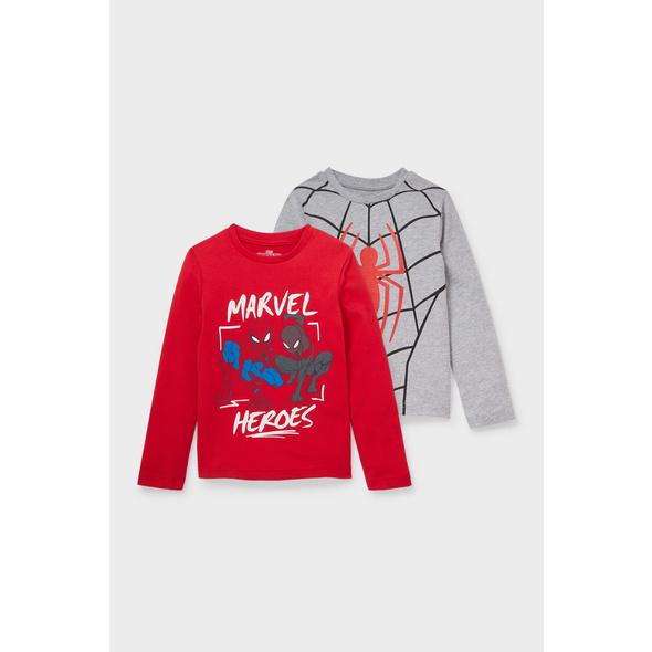 Multipack 2er - Spiderman - Langarmshirt - Bio-Baumwolle