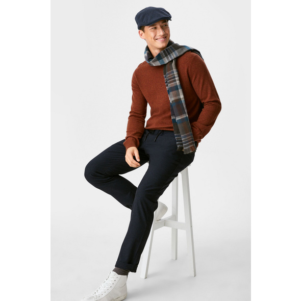 Hose - Tapered Fit - recycelt - kariert