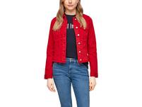 Colored Denim-Jacke mit Fransen - Jeansjacke