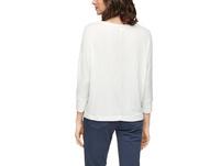 Rippshirt mit Fledermausärmeln - T-Shirt