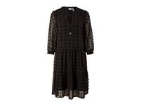 Stufenkleid aus Tupfen-Chiffon - Chiffon-Kleid