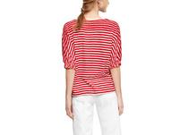 Streifen-Shirt mit Stickerei - T-Shirt
