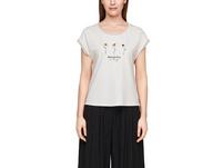 Jerseyshirt mit Chiffondetails - Jersey-T-Shirt