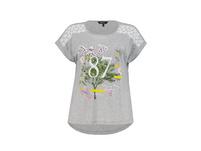 T-Shirt, Zahlenmotiv, Oversized, Spitze, Biobaumwolle