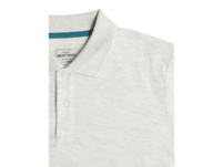 Poloshirt in Melange-Optik