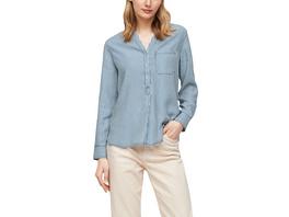 Gestreifte Jeansbluse aus Lyocell - Denim-Bluse