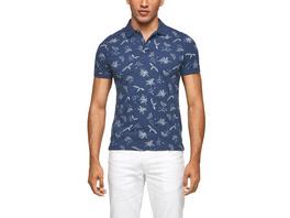 Poloshirt mit Palmenprint - Poloshirt