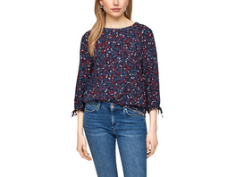 Dobby-Bluse mit Blumenmuster - Bluse