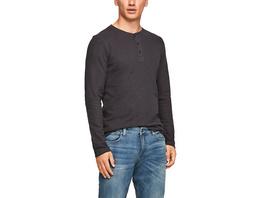Schmales Henleyshirt aus Jersey - Henleyshirt