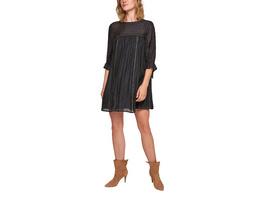 Jacquard-Kleid mit Zierband - Kleid