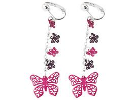 Kinder Ohrclip - Pink Butterfly