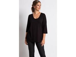 Ulla Popken Shirt, Slim, doppelte Stofflage, Crêpe, selection - Große Größen