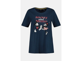 Ulla Popken Shirt, Mickey & Minnie, Halbarm - Große Größen