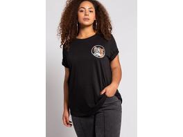 Ulla Popken T-Shirt, Rundhals, Oversized, Halbarm, Tom und Jerry Print - Große Größen