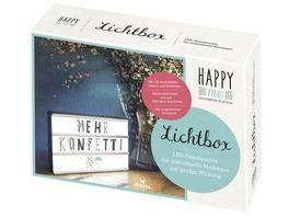 Happy me Lichtbox Bitte einzeln einlagern