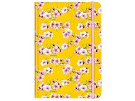 Notizbuch A5 Blüten gelb