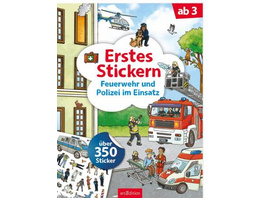 Erstes Stickern Feuerwehr und Polizei im Einsatz